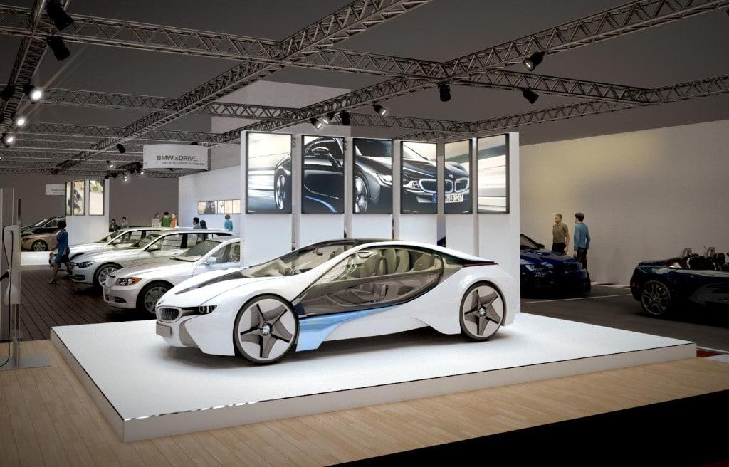 Visualisierung Messe Auftritt von BMW Austria auf der Vienna Auto Show 2015