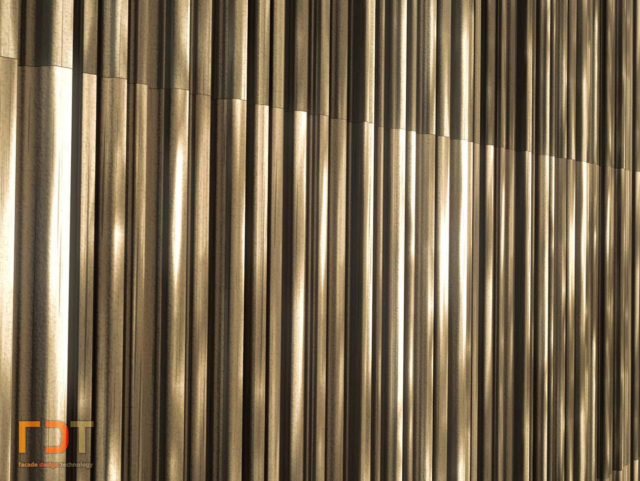 FDT Keramik Fassade Visualisierung