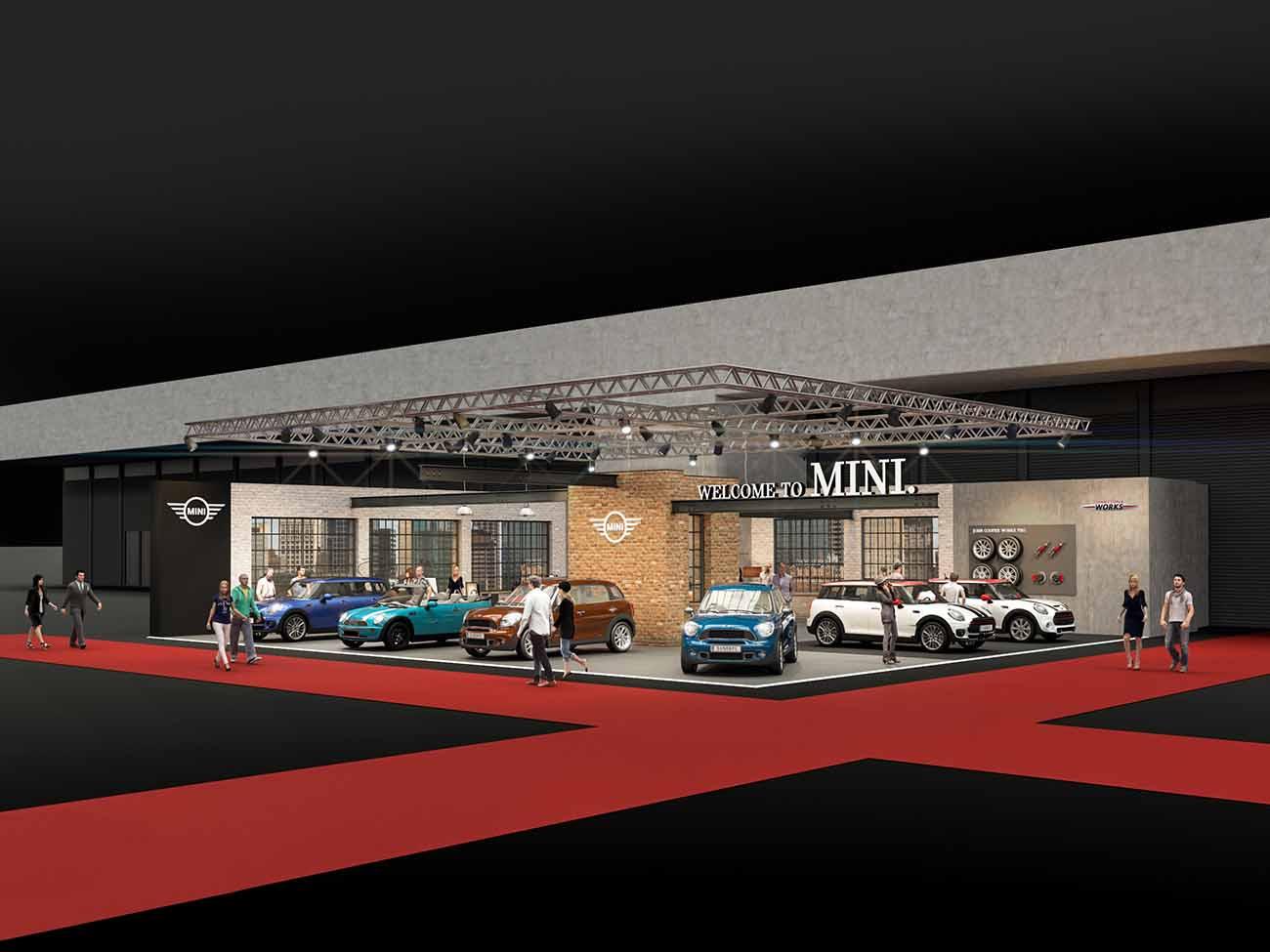 MINI Stand auf der Vienna Autoshow 2017 - Rechtsansicht