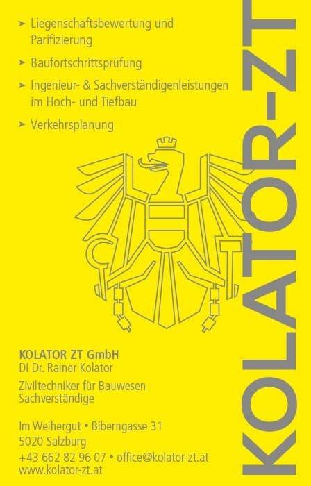 Kolator ZT GmbH Layout Anzeige