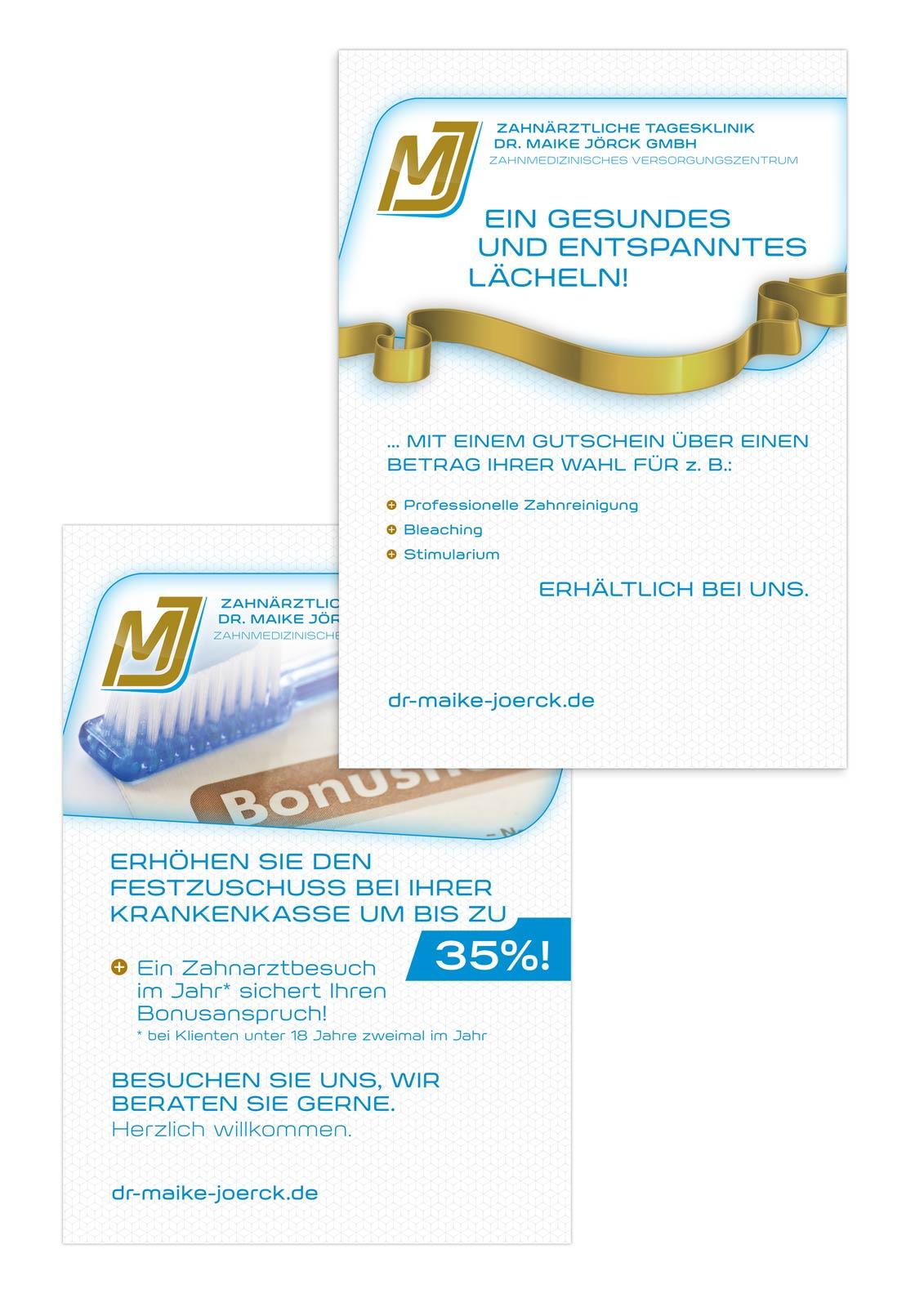 Zahnärztliche Tagesklinik Dr. Maike Jörck GmbH: Werbeplakate