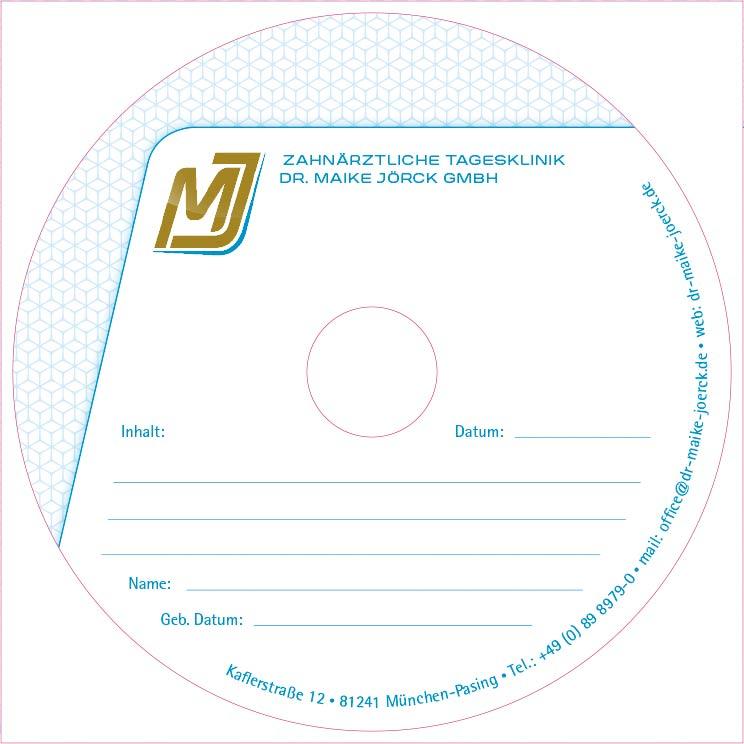 Zahnärztliche Tagesklinik Dr. Maike Jörck GmbH: DVD Label