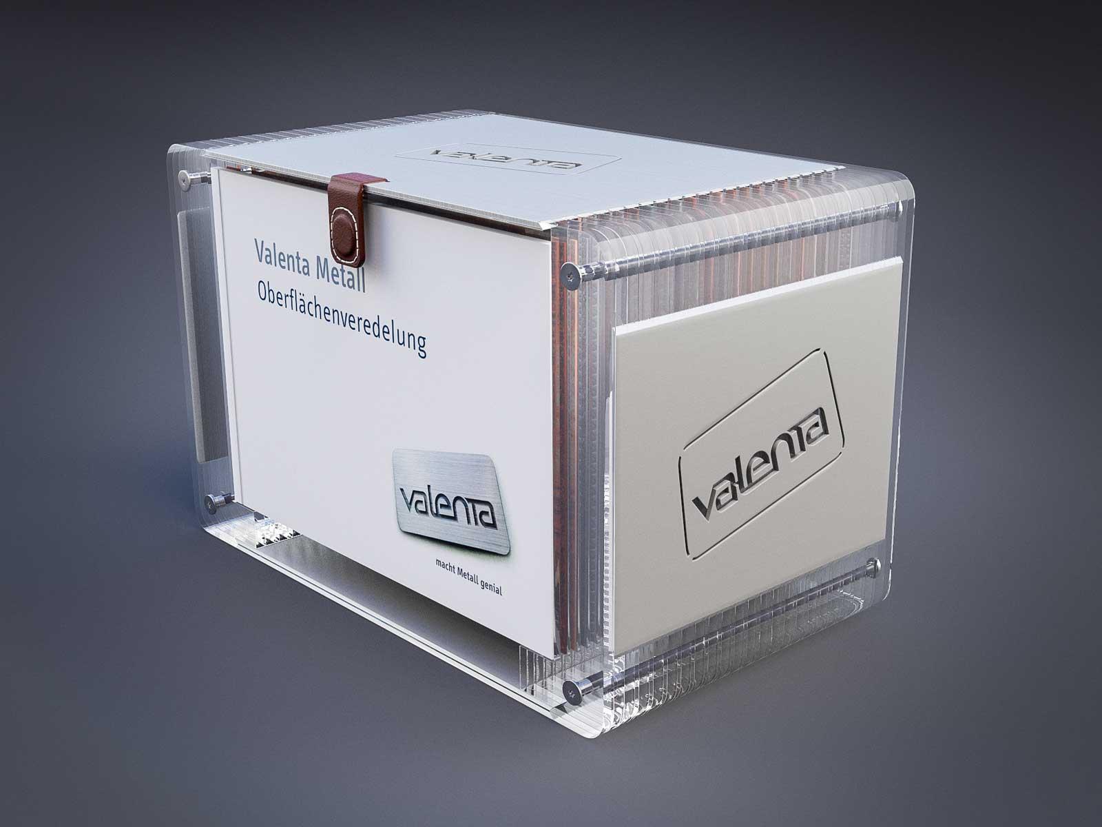 2. Valenta Metall GmbH - Verpackungsdesign für Blechmuster Kollektion