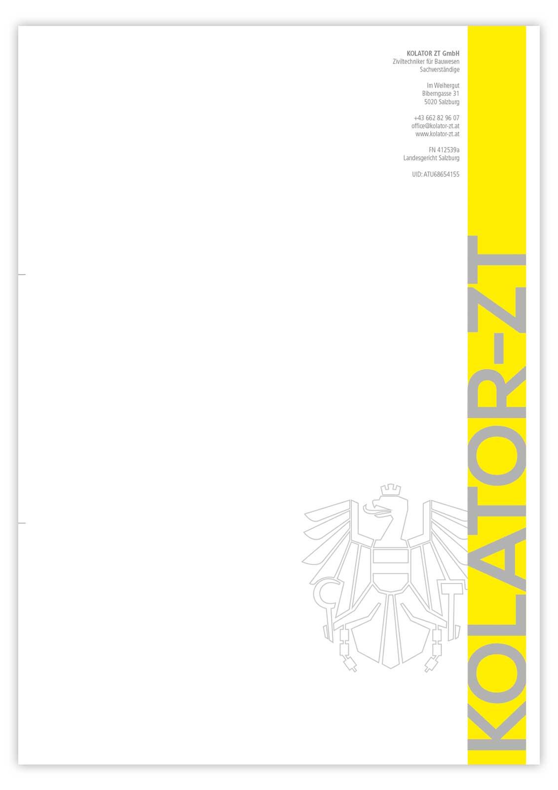 Kolator ZT GmbH Briefpapier