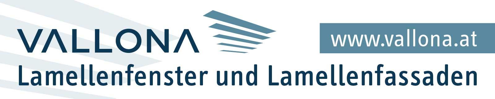 Vallona Lamellenfenster und Lamellenfassaden: Banner für Websites