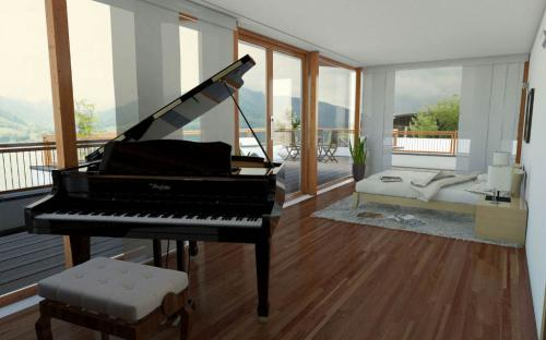 Seevilla Freiberg Loft Piano