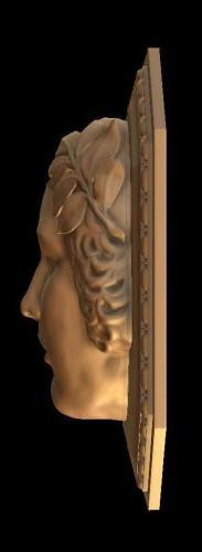 Relief 2 Kopf Seitenansicht