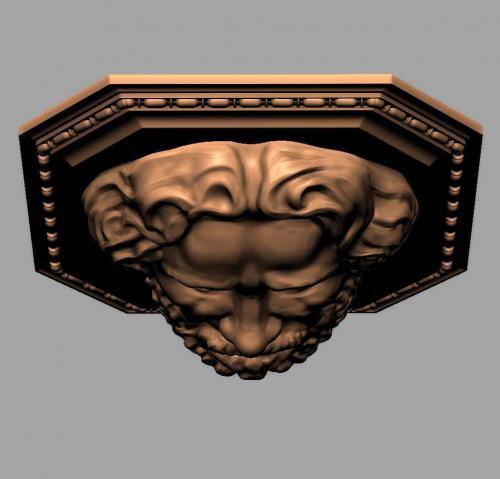 Relief 3 Kopf Oben