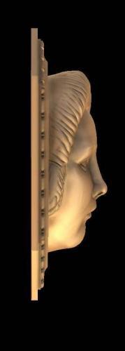 Relief 4 Kopf Rechtsansicht