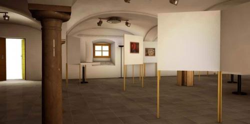 Elisabethbuehne Saeulenfoyer Ausstellung Bar