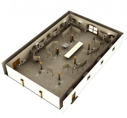 Elisabethbuehne Saeulenfoyer Ausstellung Plan