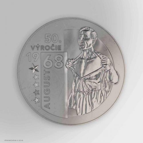 Münze zum 50. Jubiläum des August 1968, Averz