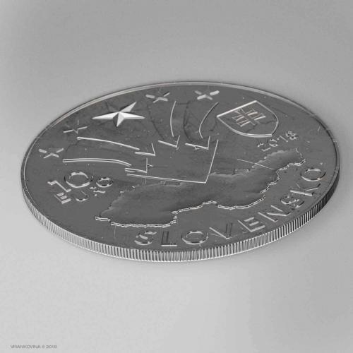 Münze zum 50. Jubiläum des August 1968, Reverz