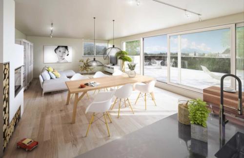 VRANKOVINA Visualisierung Wohnzimmer Interieur
