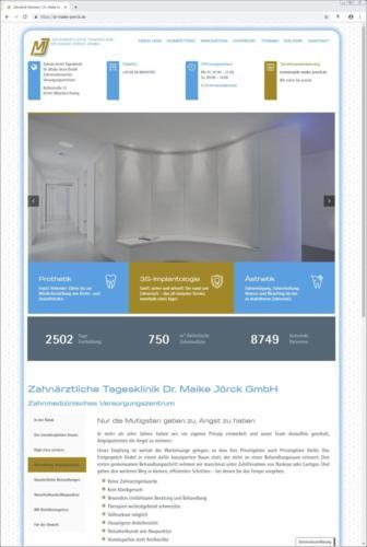 Zahnärztliche Tagesklinik Dr. Maike Jörck GmbH: Website