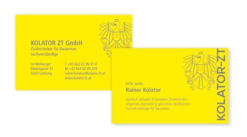 Kolator ZT GmbH: Visitenkarten