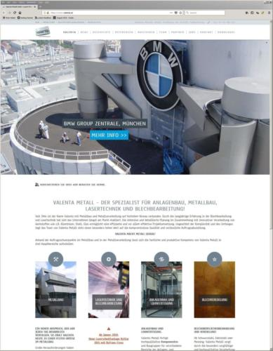 Valenta Metall GmbH: Website