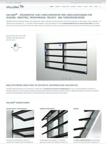 Vallona Lamellenfenster und Lamellenfassaden: Website